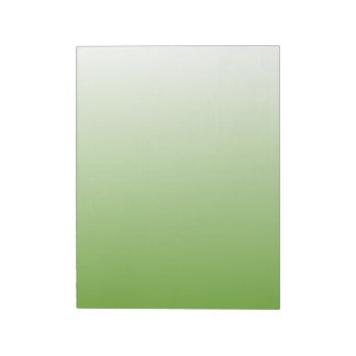 Gradient Green and White Memo Note Pad