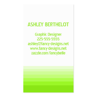 Gradient Green Pack Of Standard Business Cards