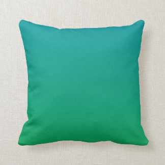 Gradient: Green to Teal Cushion