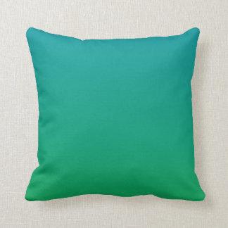 Gradient: Green to Teal Throw Cushion