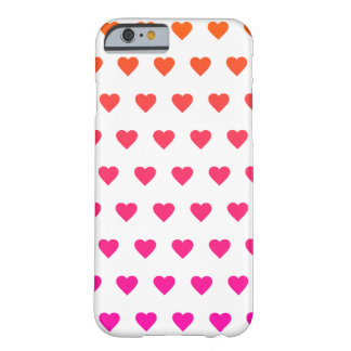 Gradient Hearts Pattern Barely There iPhone 6 Case