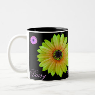 Gradient Lime Daisy Coffee Mug