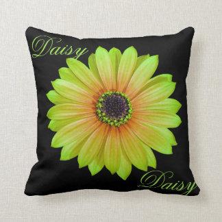 Gradient Lime Daisy Throw Throw Pillow