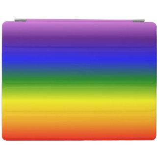 Gradient Multicolor Rainbow Colors Pattern iPad Cover