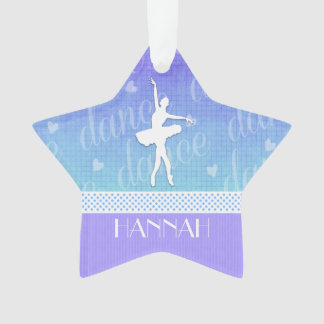 Gradient of Blue - Ballerina Passionate Dancer Ornament