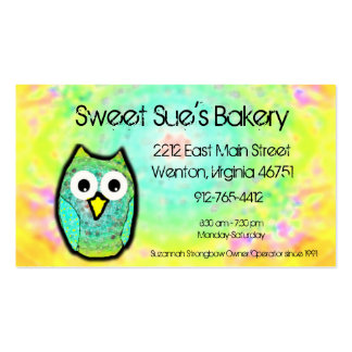 Gradient Owl Business card