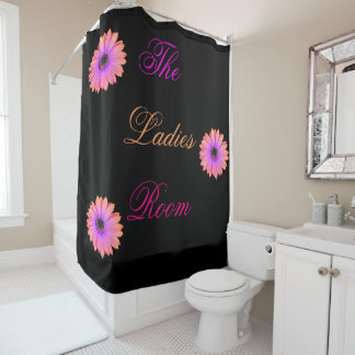 Gradient Pink Daisy Shower Curtain