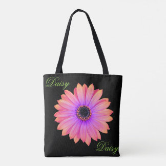 Gradient Pink Daisy Tote