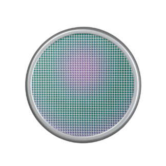 Gradient pink teal turquoise polka dots pattern bluetooth speaker