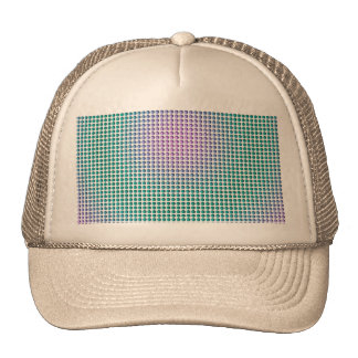 Gradient pink teal turquoise polka dots pattern cap