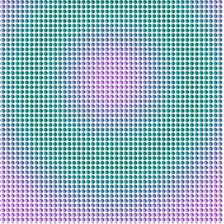 Gradient pink teal turquoise polka dots pattern standing photo sculpture