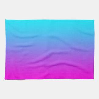 Gradient Pink to Blue Gradation Hot Pink Sky Blue Tea Towel