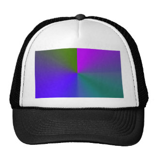 Gradient Radial - blue green Hat