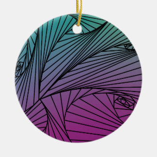 Gradient Spiral Pattern on an Ornament