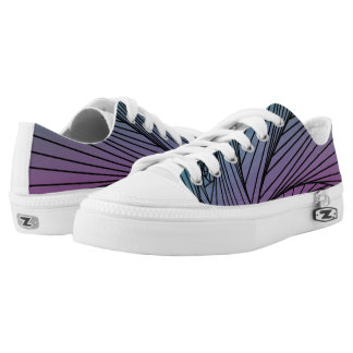 Gradient Spiral Pattern on Shoes Printed Shoes
