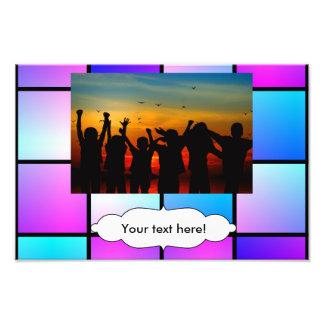 Gradient squares pattern photograph
