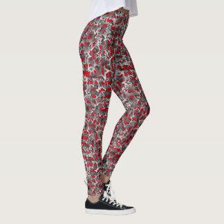"""Gradient Stars on Red""  Legging"