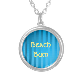 Gradient Stripes / Tropical & Modern Look Personalized Necklace
