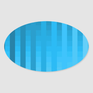 Gradient Stripes / Tropical & Modern Look Oval Sticker