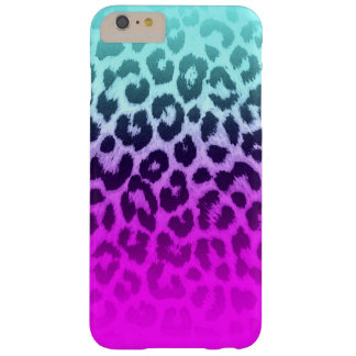 Gradient Tiffany Blue Pink Cheetah Leopard Print Barely There iPhone 6 Plus Case