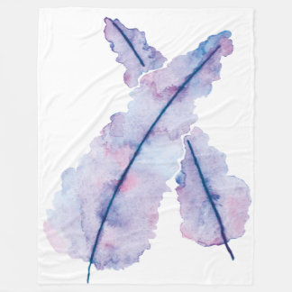 Gradient Watercolor Feathers on Blanket