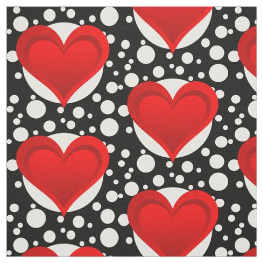 Gradients RED LOVE HEART + your backgr. & ideas Fabric