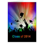 Grads Throwing Caps Laser Lights Class of 2014