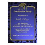Graduatation 2011/ Sapphire Blue Personalized Invites