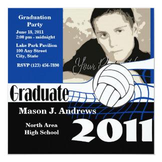 Graduate 2011/ Volleyball 13 Cm X 13 Cm Square Invitation Card