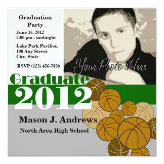 Graduate 2012 Basketball 13 Cm X 13 Cm Square Invitation Card