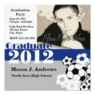 Graduate 2012 Soccer 13 Cm X 13 Cm Square Invitation Card