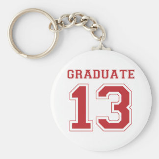 Graduate 2013 - Red Basic Round Button Key Ring