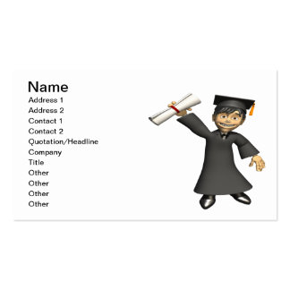 Graduate 3 pack of standard business cards