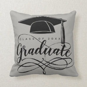Graduate Add Name, Year, School Edit Colour Cushion