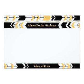 Graduate Advice Cards Black Gold Tribal Arrows 9 Cm X 13 Cm Invitation Card