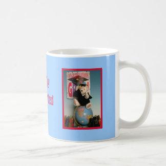 Graduate bear, bearly graduated coffee mug
