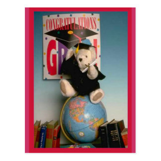 Graduate bear postcard