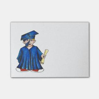 Graduate Blue Cap Gown Diploma Graduation Post Its Post-it® Notes