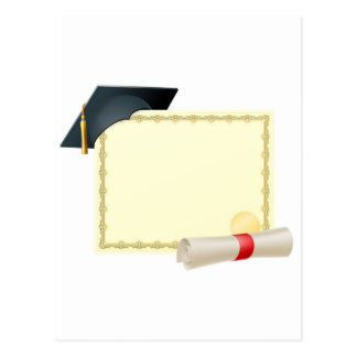 Graduate certificate background postcard