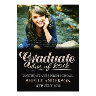 Graduate Class of 2012 Modern Black Invite