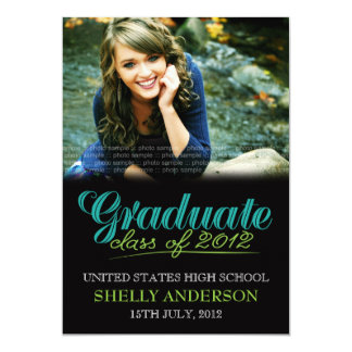 Graduate Class of 2012 Modern Blue Green Invite