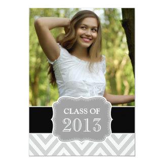 GRADUATE CLASS OF 2013 BLACK GREY CHEVRON CARD