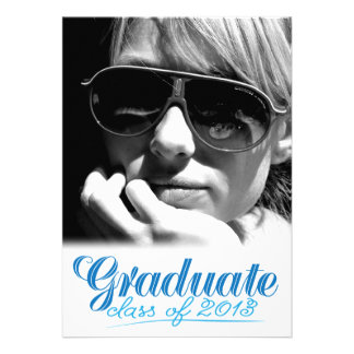 Graduate Class of 2013 Modern White Invite