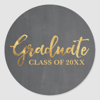 Graduate Class of 2017 Grey and Gold Stickers