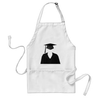 Graduate Class of Cap and Gown Template2 Standard Apron
