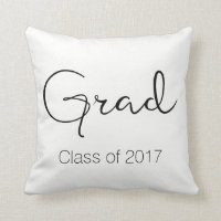 Graduate / Class of Throw Pillow