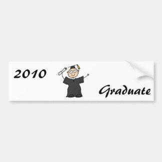 Graduate Cute Black Bumper Sticker