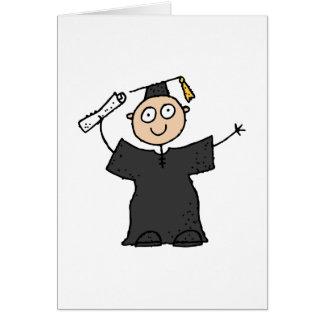 Graduate Cute Black Greeting Card