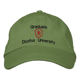 Graduate, Doofus University, DU Embroidered Baseball Caps