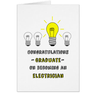 Graduate-Electrician-You're a Bright Bulb! Card